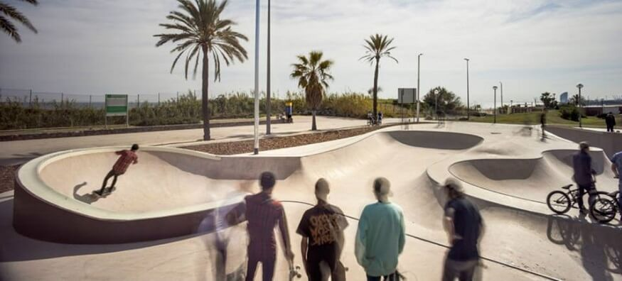 Best Barcelona Skate Spots - Skatepark De La Mar Bella