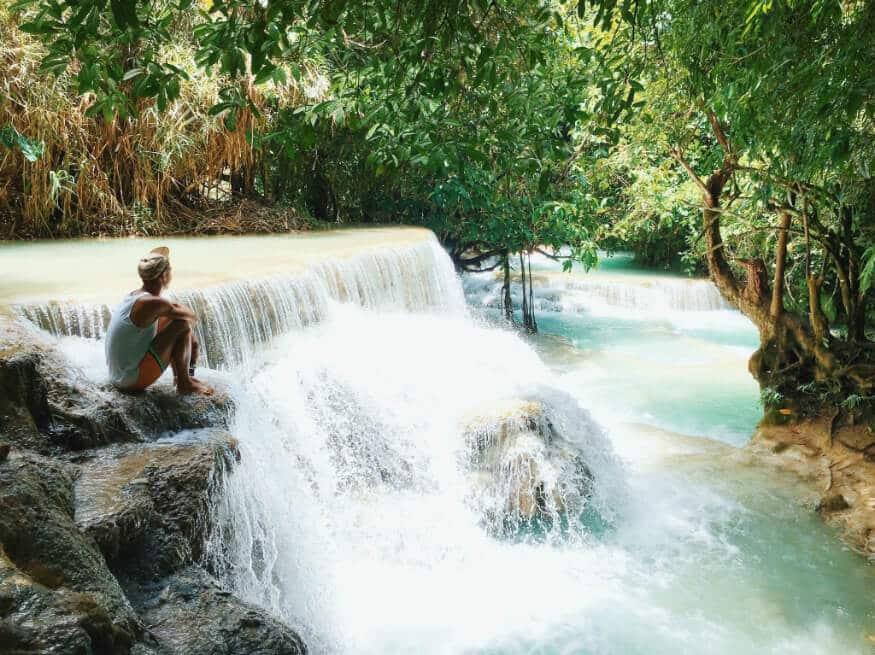 bucket list ideas - waterfall in Laos