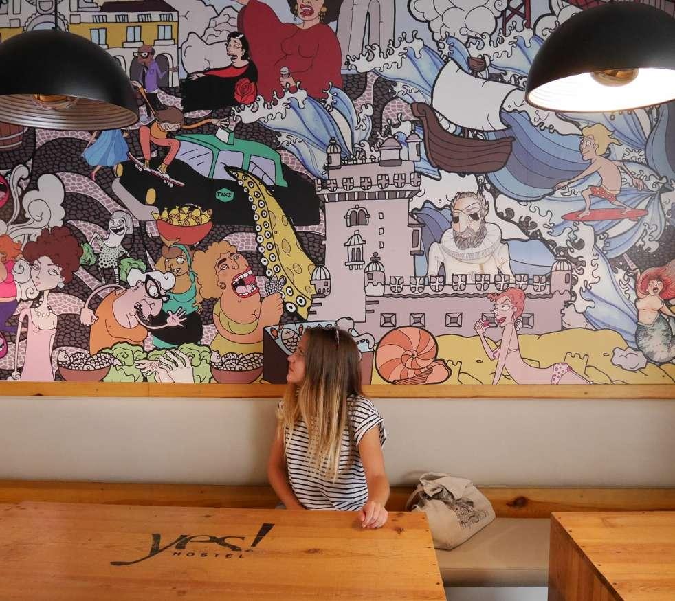 Yes lisbon hostel, Portugal / Emma Lucey