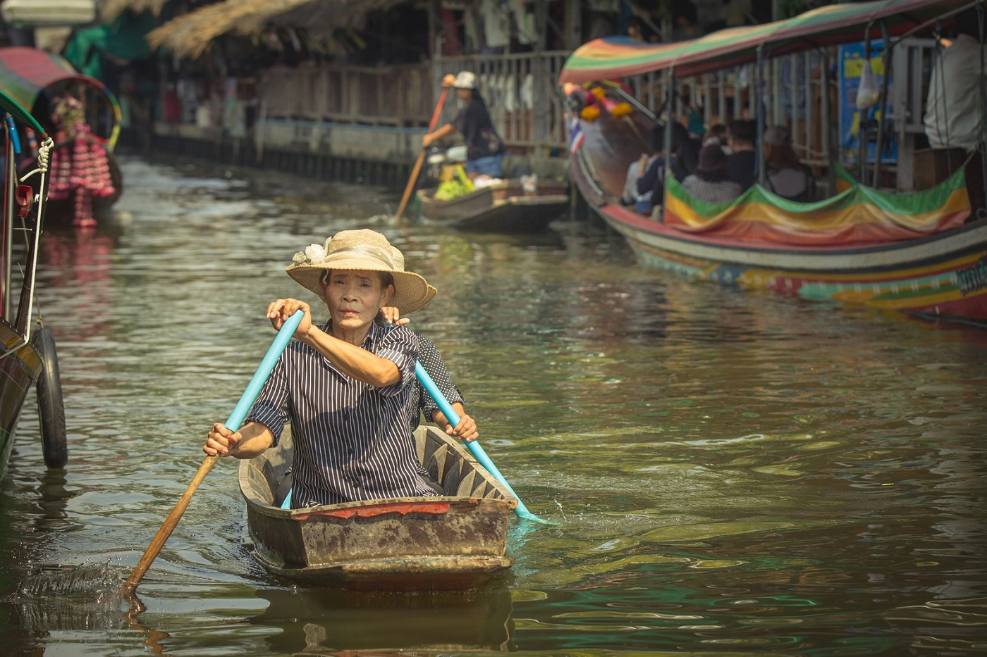 bangkok markets Khlong Lat Mayom Floating Markett