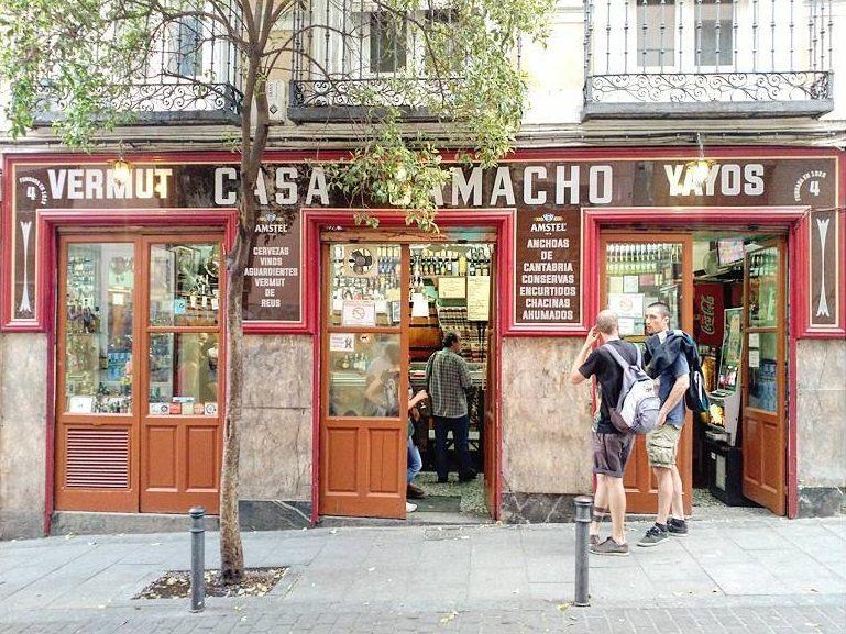 zonas de bares madrid,casa camacho @saragarcia