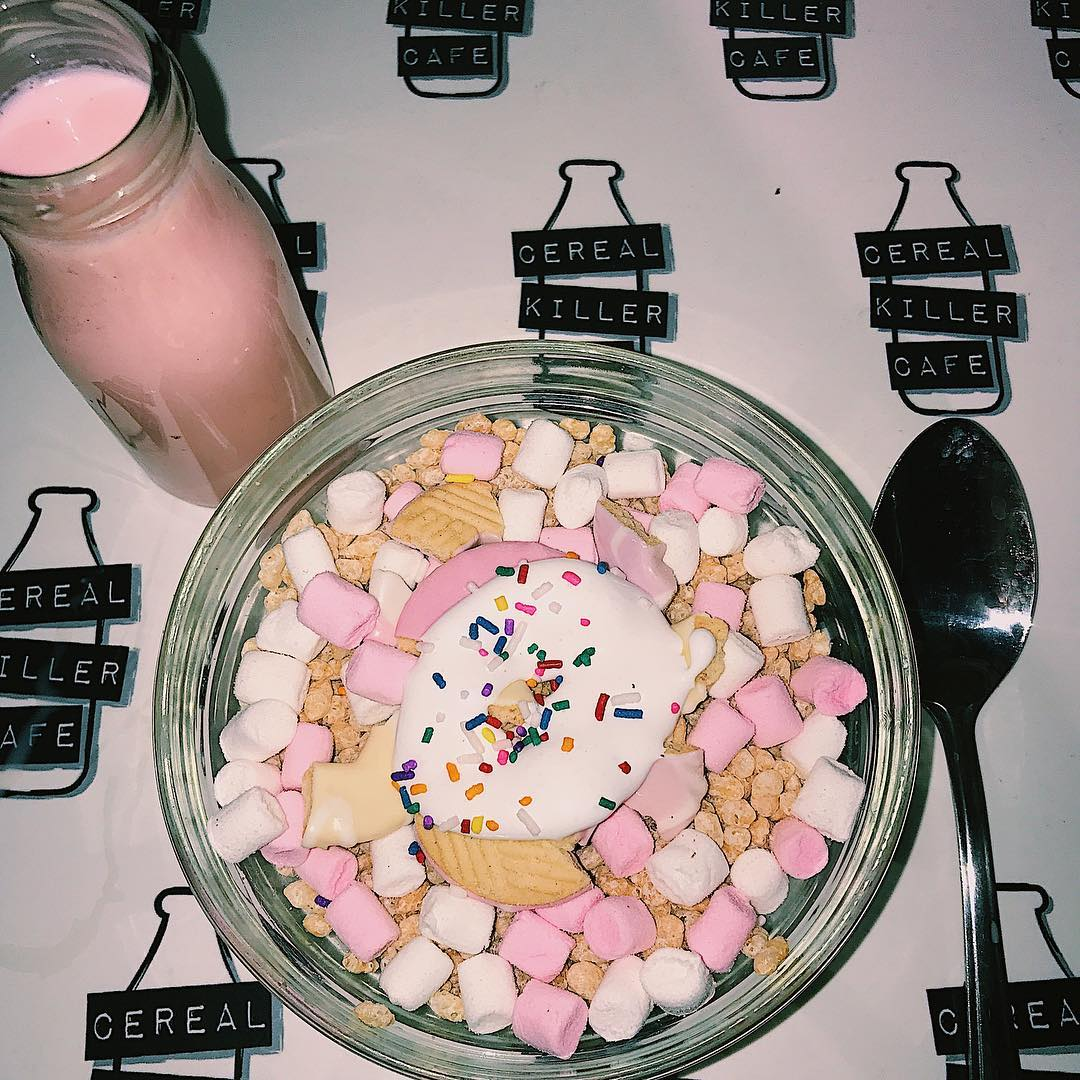 Best Places to Visit in England - Unicorn Snack at Cereal Killer Cafe