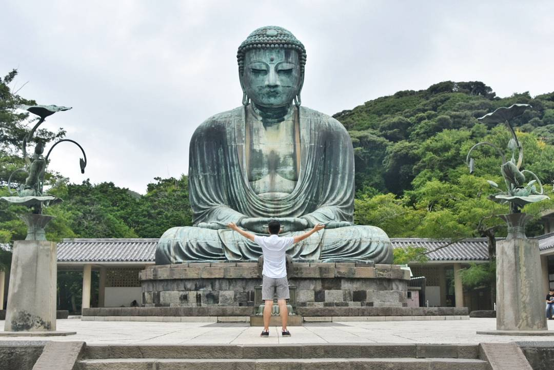 best places to visit in Japan Kamakura the great buddha @sanviar