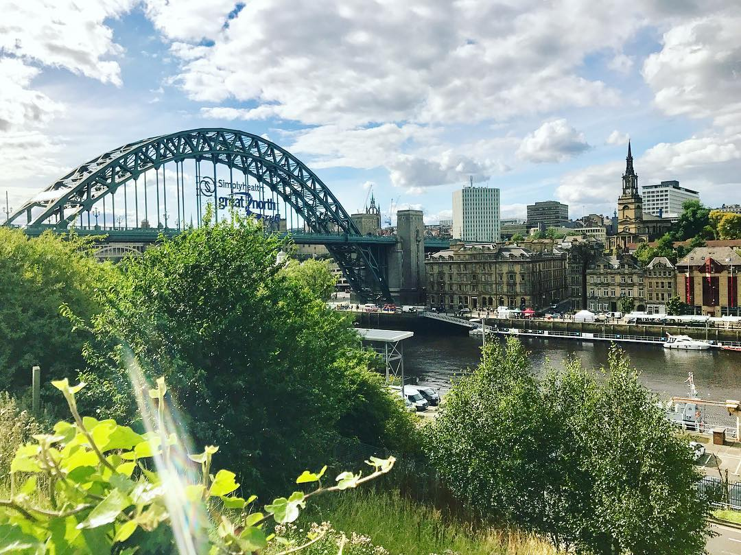 Best Places to Visit in England - View of the river and Tyne Bridge in Newcastle