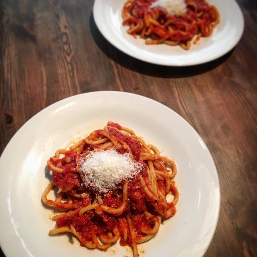 Italia Pici all'aglione en Sorano