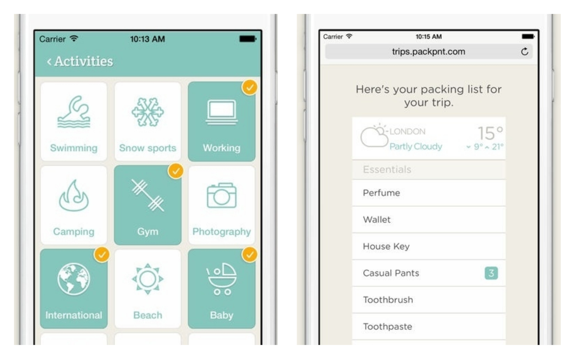 Best Travel Apps - PackPoint