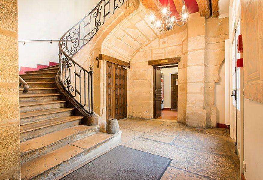 Best hostels in Paris - MIJE hostel stairs