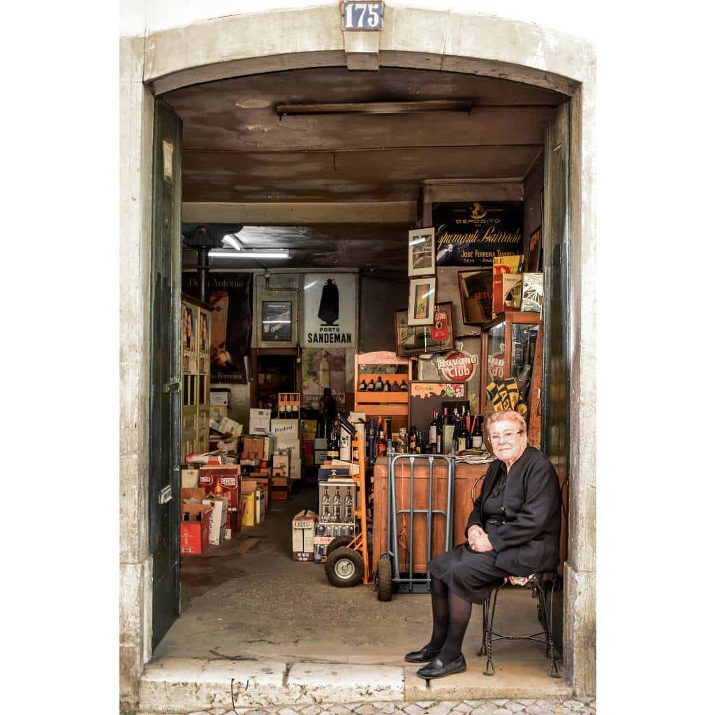 Tourism in Lisbon - small shop