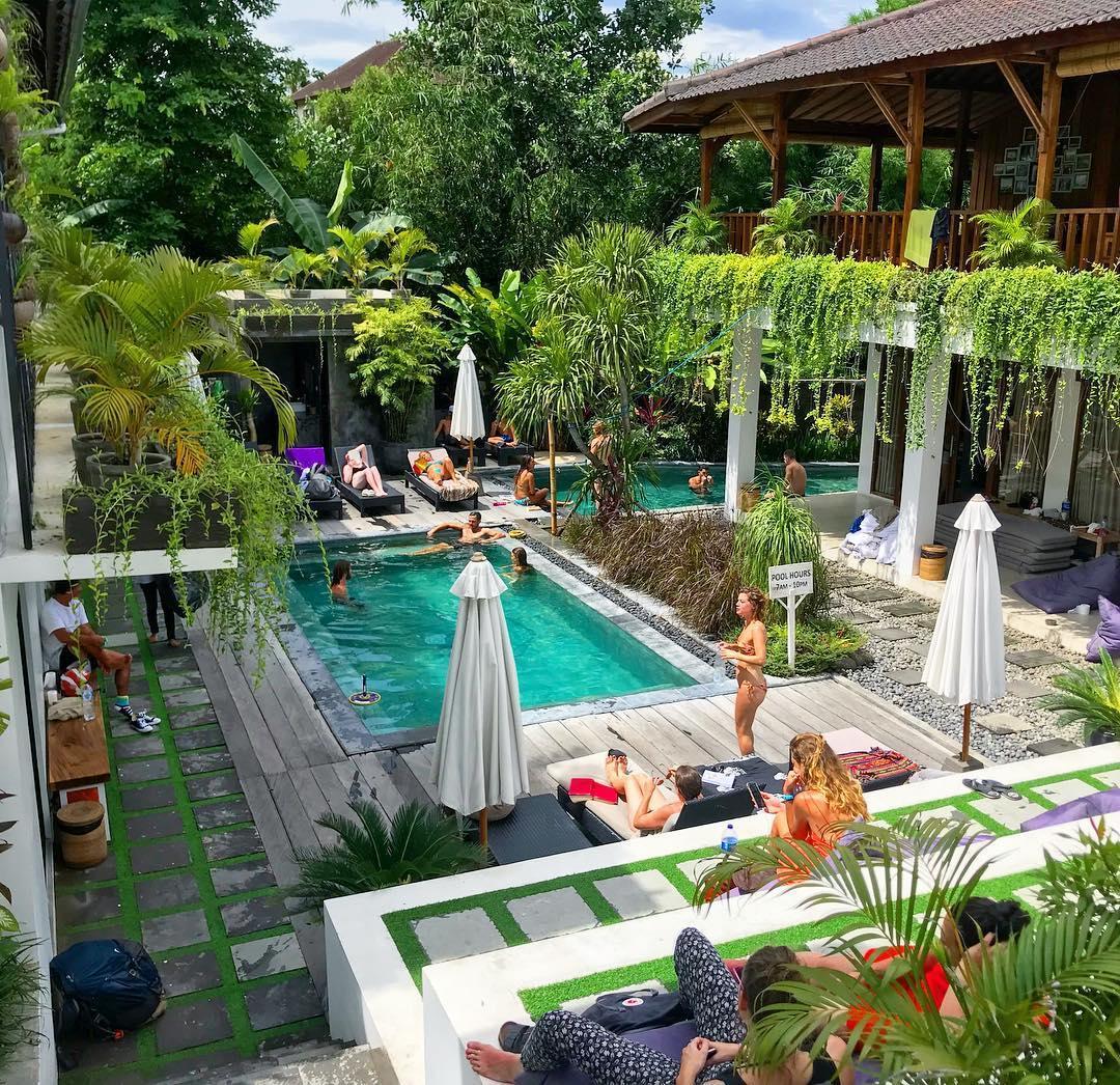 Best hostels in Bali @emilyallison1994 The Farm Hostel