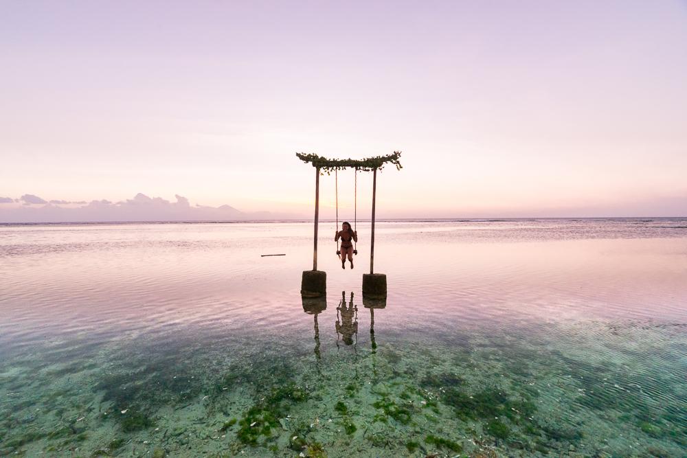 Backpacking Indonesia - Sunset Gili Islands