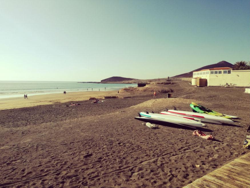 que faire a tenerife - plage de Médano