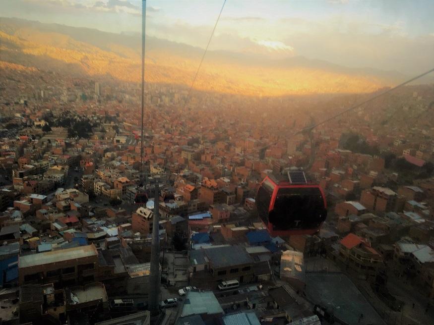 travelling with a disability - La Paz gondolas (Bolivia)