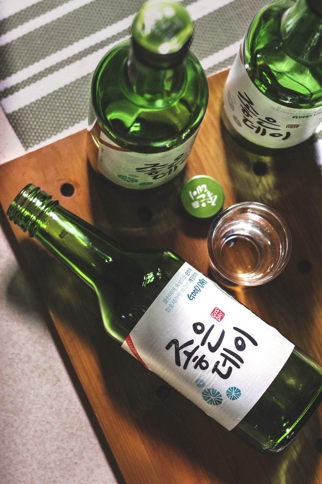 drinks from around the world - south korea - souju