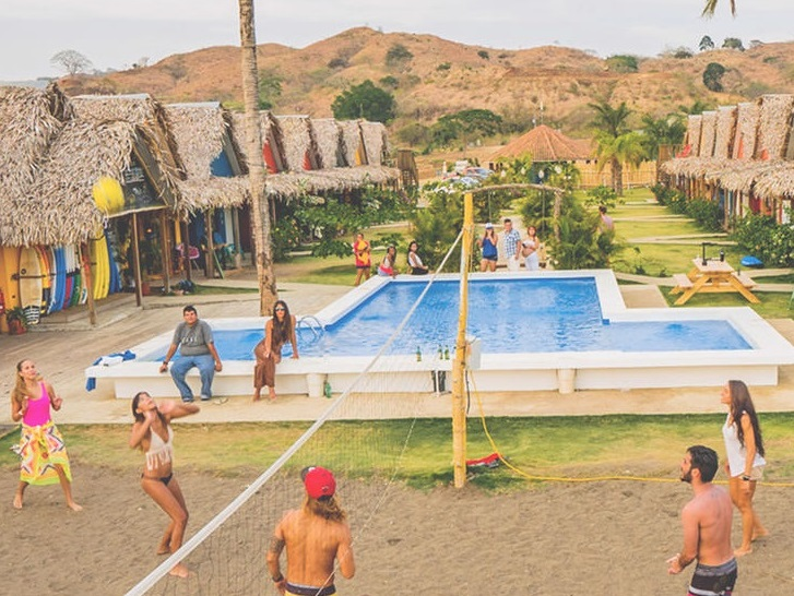 Long term hostel living - pool and volleyball