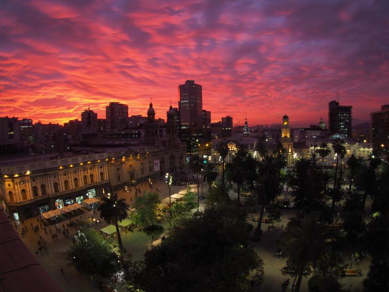 View from the Plaza de Armas Hostel - Best hostels in Santiago
