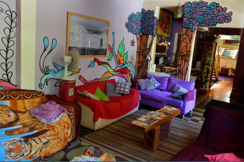 The lobby of The Princesa Insolente Hostel - Best hostels in Santiago
