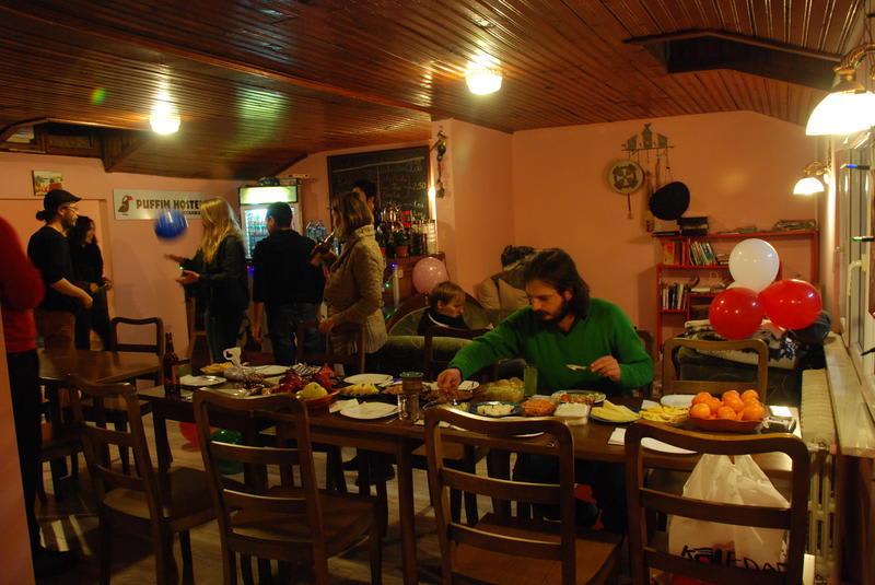 Breakfast at Puffin Hostel - Best hostels in Istanbul