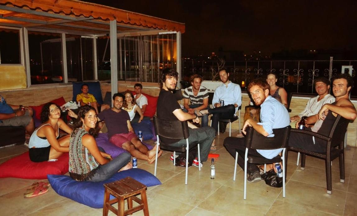 Second Home Hostel's rooftop terrace - Best hostels in Istanbul