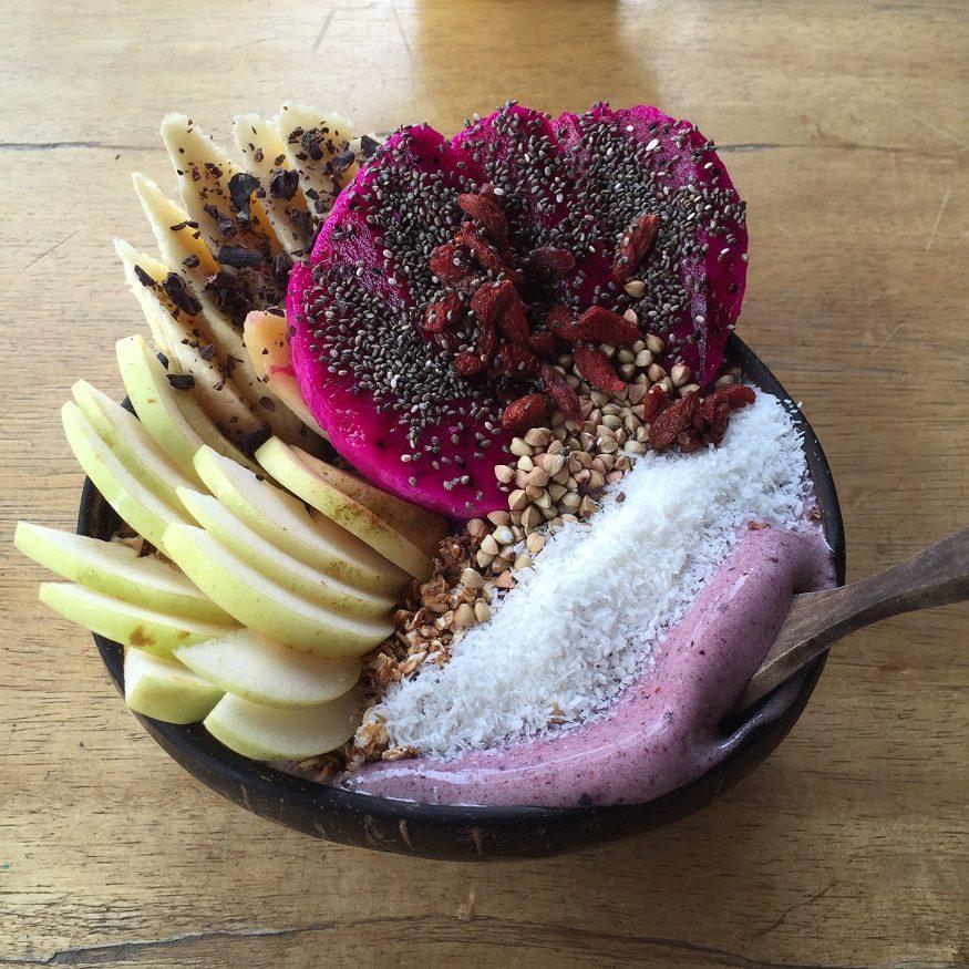 vegan backpacking food - dragon fruit granola