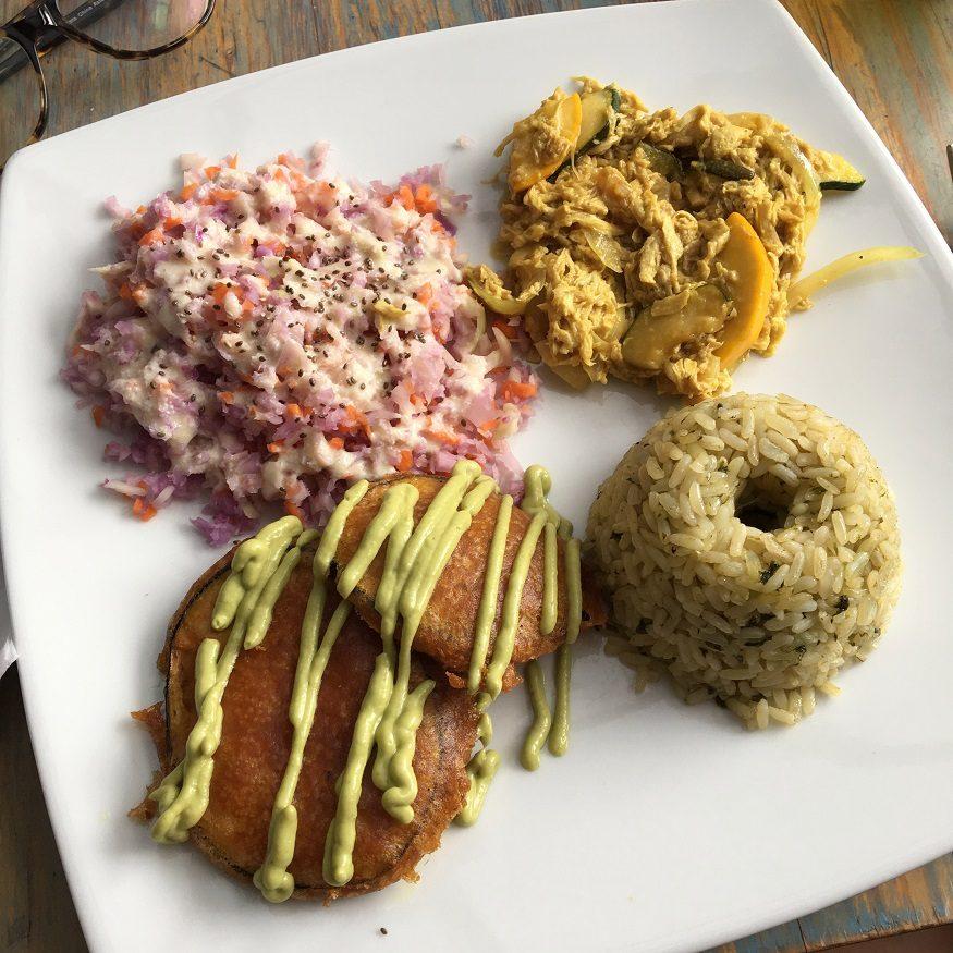 vegan backpacking food - mango sticky rice