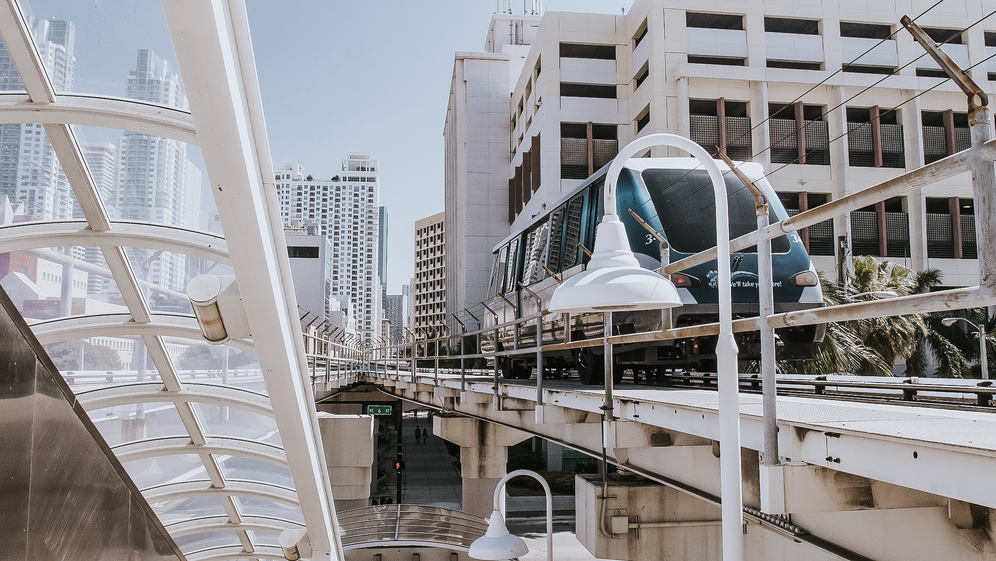 free things to do in Miami - ride the metromover