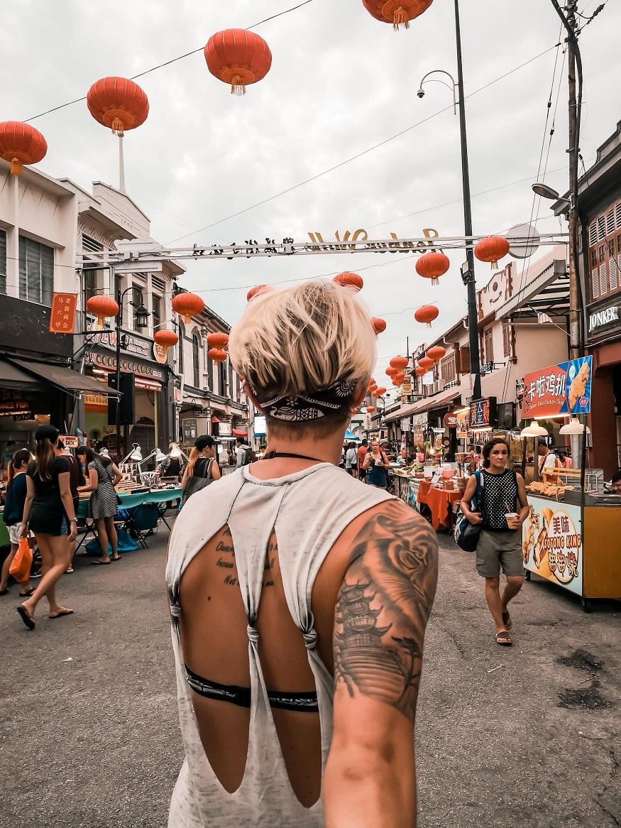 backpacking Malaysia - Malacca - Jonker Street - Chinese lanterns