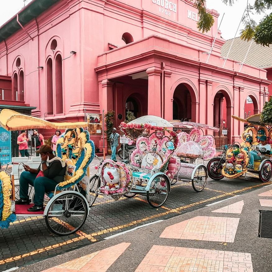 backpacking Malaysia - Malaysia itinerary - Christ Church building pink