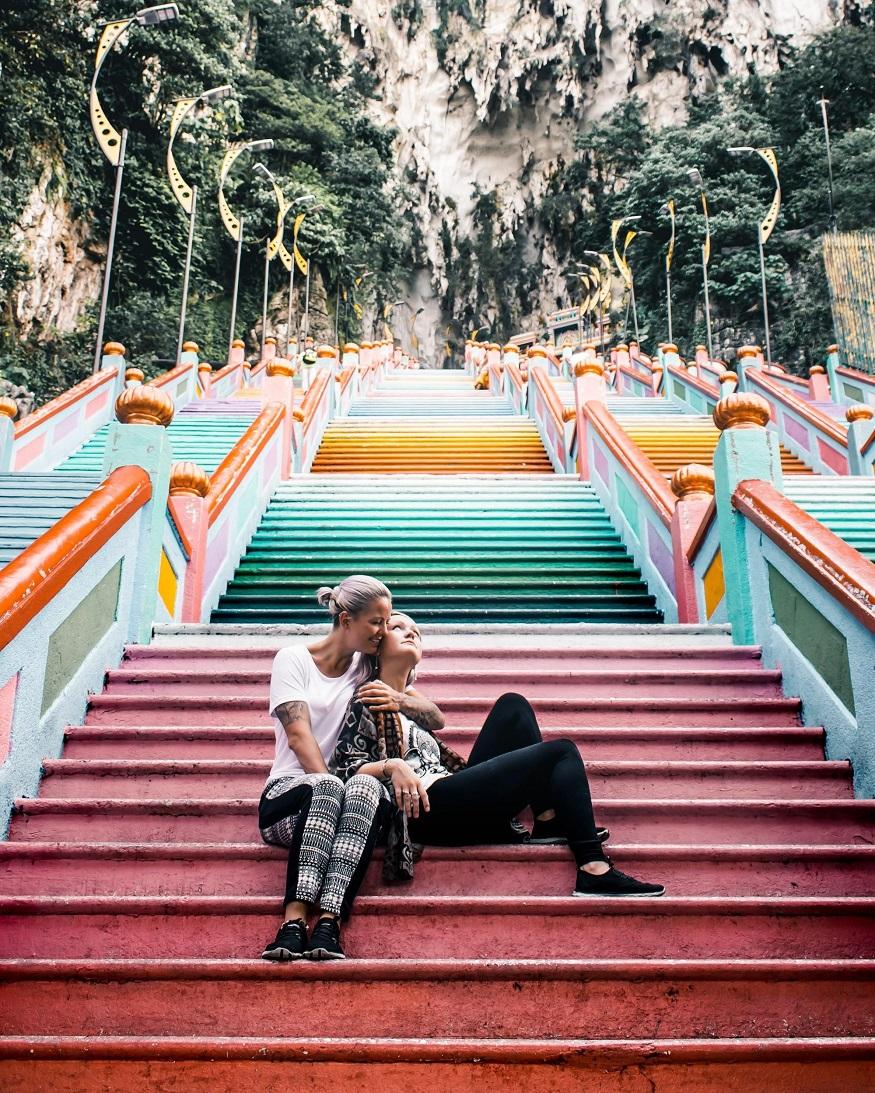 backpacking Malaysia - Malaysia Itinerary - coloured steps