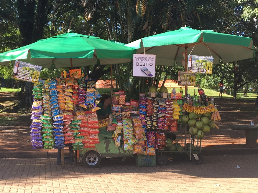 things to do in são paulo - ibirapuera park food stand