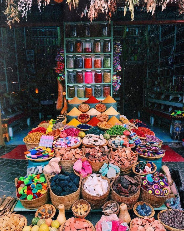 cosa fare a marrakech - il mercato delle spezie