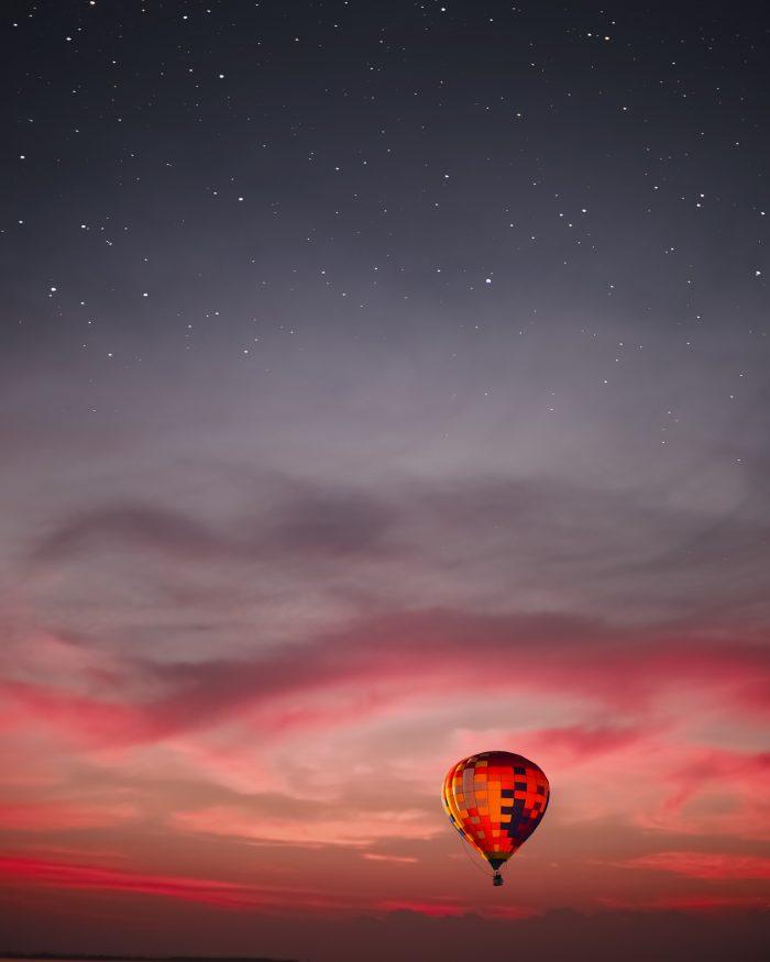 Siem Reap Sehenswürdigkeiten - Heißluftballonfahrt bei Sonnenuntergang