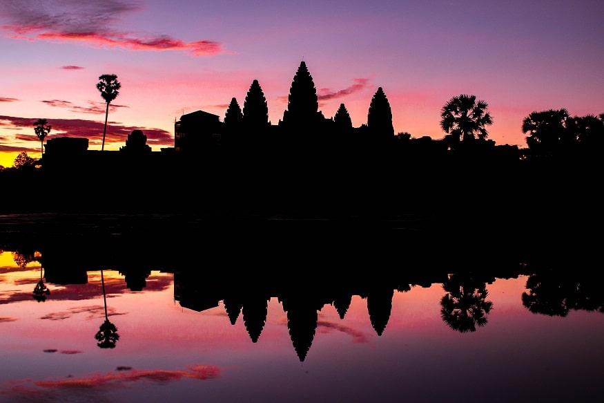 Siem Reap Sehenswürdigkeiten - Sonnenuntergang angkor wat