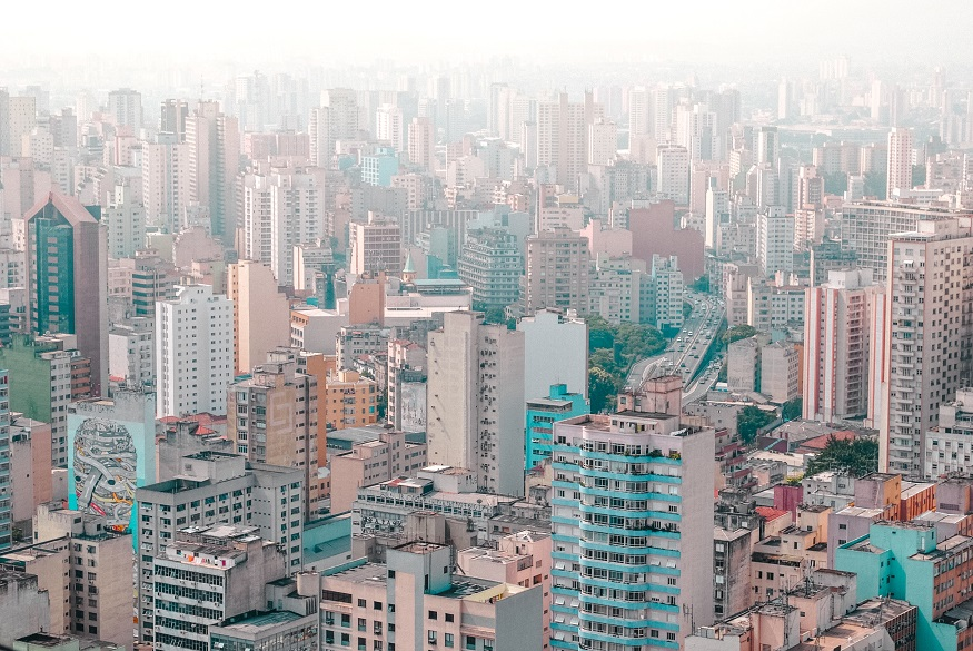 backpacking brazil, view of São Paulo high rises