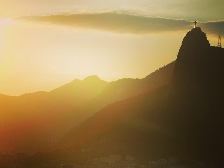 backpacking brazil, Rio de Janeiro at sunset