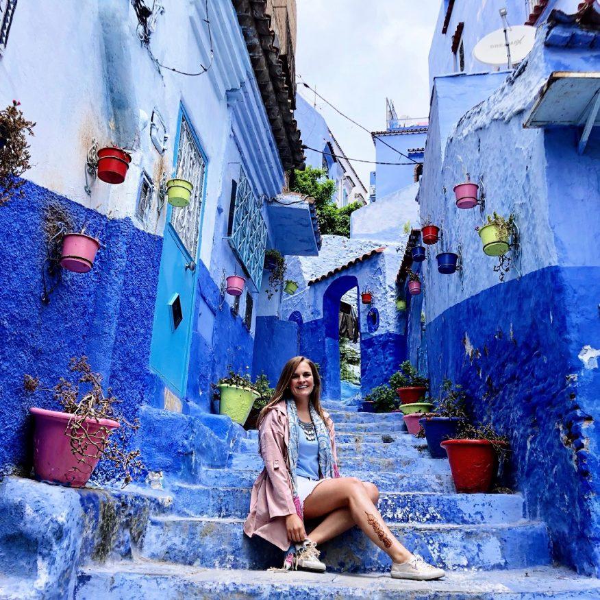 Sehenswürdigkeiten in Marokko - Chefchaouens Blaue Stufen