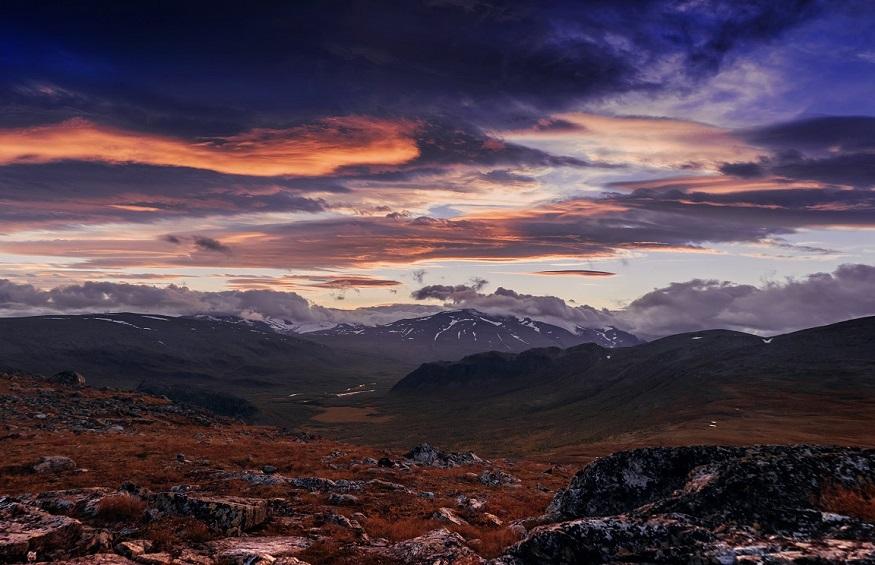 best national parks in europe, mountain landscape in sarek national park, sweden