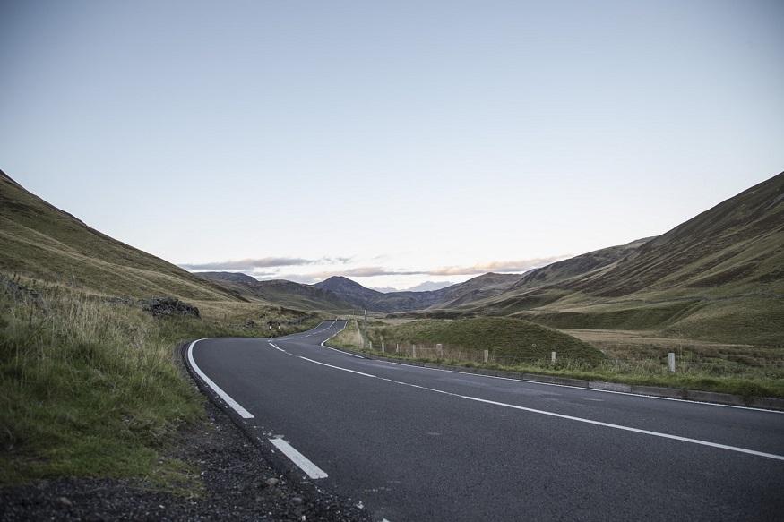 scotland road trip, road through Cairngorms National Park