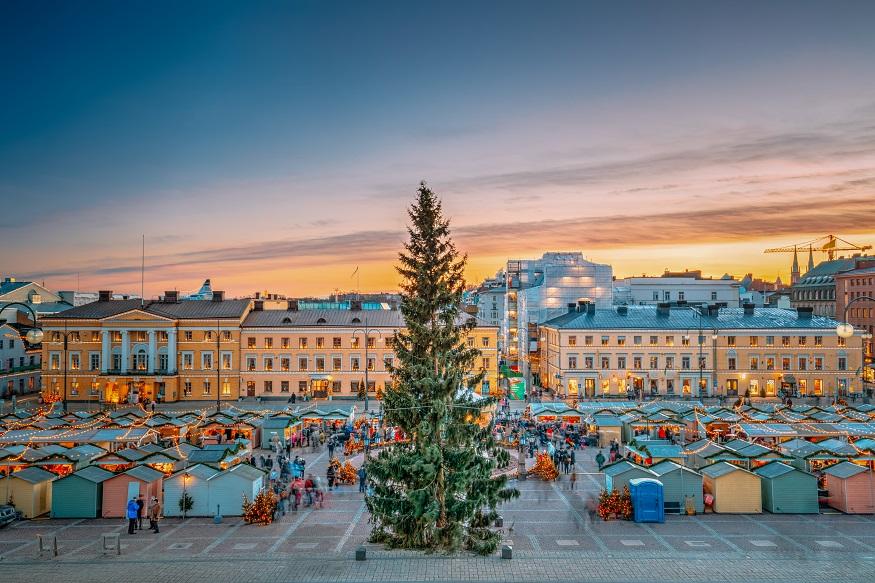 visiter helsinki - marché de Noel