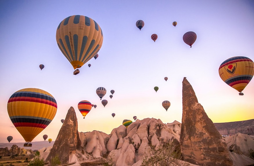 best national parks in europe, hot air balloons flying over göreme national park, turkey
