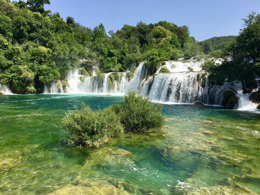 best places to visit in eastern europe, waterfall in krka national park