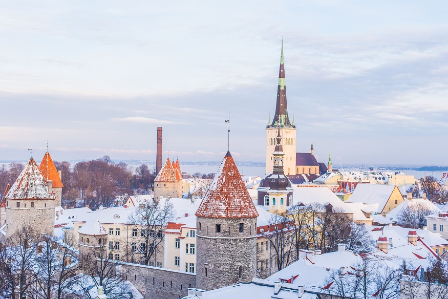 best places to visit in eastern europe, tallin covered in snow