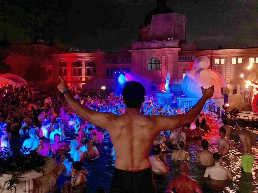 best backpacker parties, Szechenyi Baths Spa Party Budapest, Hungary
