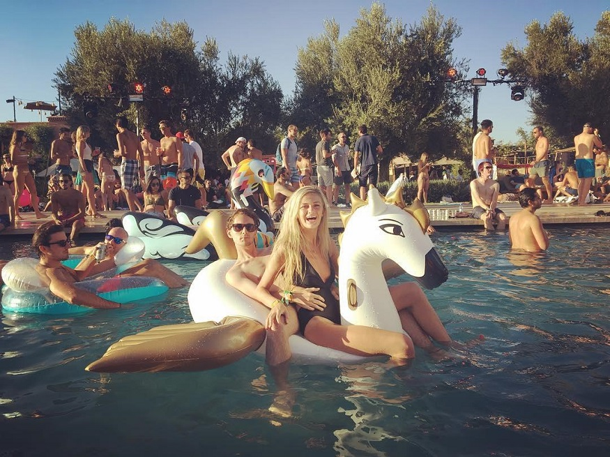 best backpacker parties, pool party at Oasis Festival – Marrakech, Morocco