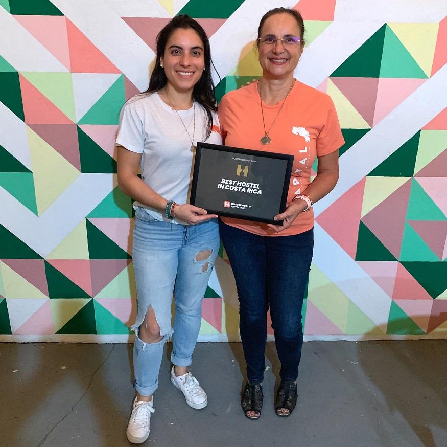 female hostel owners, Memelissa Oconitrillo – owner of Capital Hostel de Ciudad – with her mum Mercedes in San José, Costa Rica