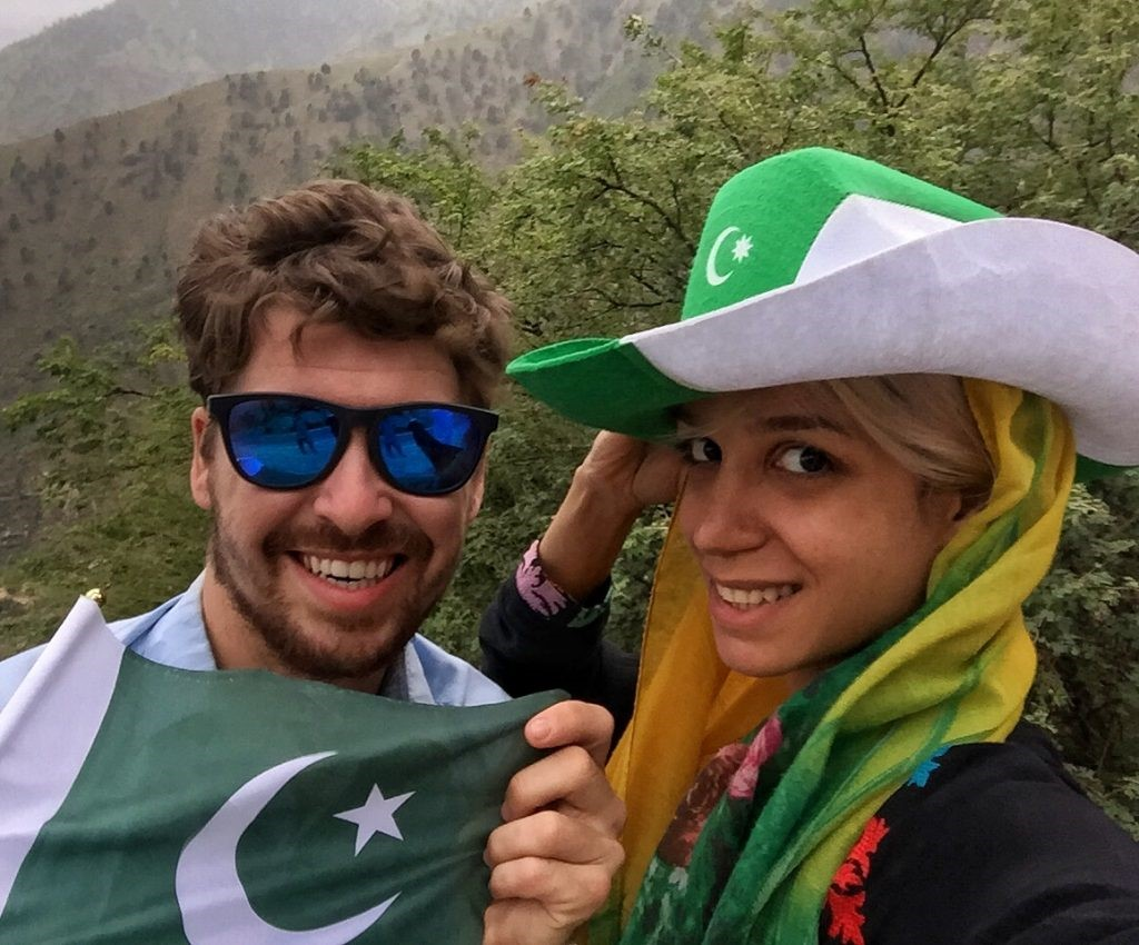 from backpacker to hostel owner - Will Hatton and Nina celebrating Pakistani Independence Day with friends